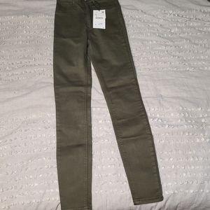 Zara skinny jeans high rise